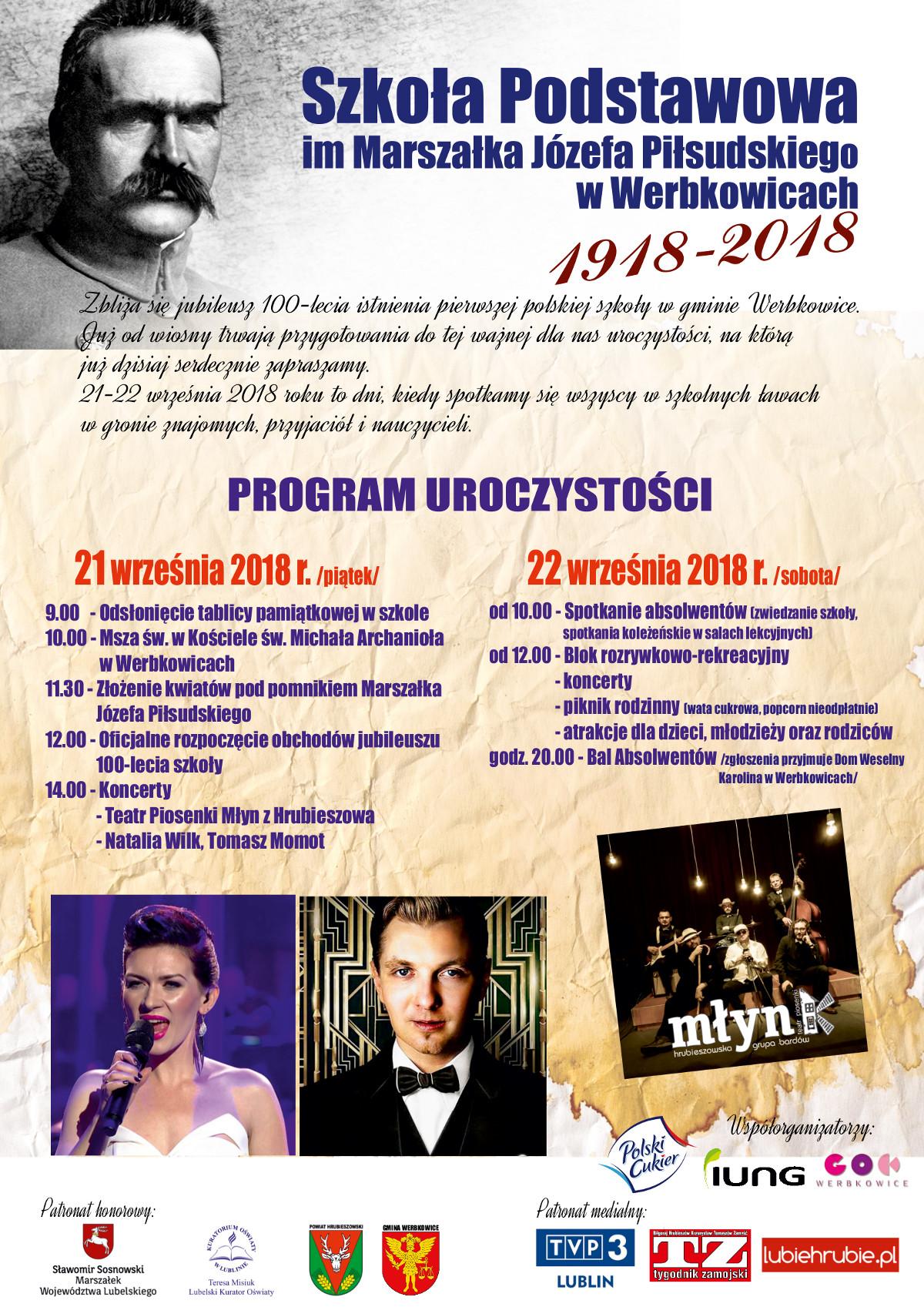 Jubileusz 100 - lecia istnienia szkoły w Werbkowicach